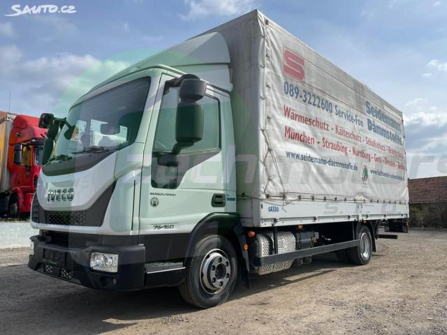 Iveco Eurocargo 75-16 E6 PLACHTA + HYDR. ČELO